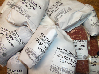 Frozen lamb cuts processed by Black Earth Meats